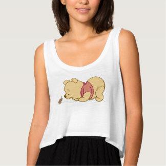 Pooh Talking to a Ladybug Disney Flowy Crop Tank Top