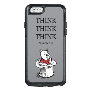 Pooh   Think Think Think Quote OtterBox iPhone 6/6s Case