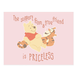 Pooh & Tigger | Support Quote Postcard