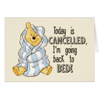 Pooh | Today is Cancelled Quote Card