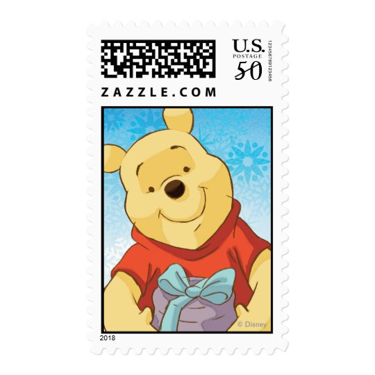 Pooh With Gift Postage