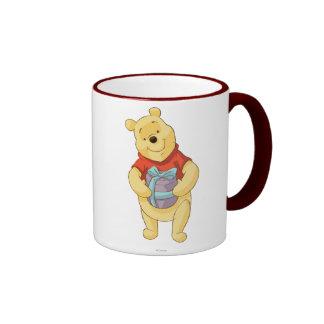 Pooh With Gift Ringer Mug