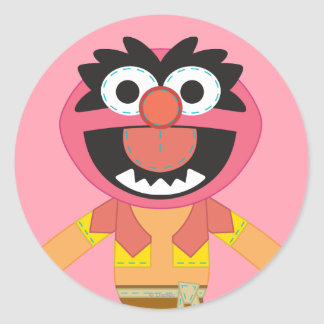 Pook-a-Looz Animal Round Stickers