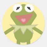 Pook-a-Looz Kermit la rana Pegatina Redonda