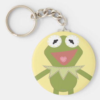 Pook-a-Looz Kermit the Frog Basic Round Button Keychain