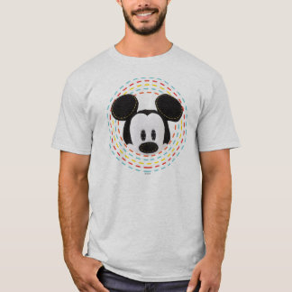 Pook-a-Looz Mickey | Peeking Circle T-Shirt