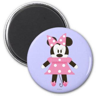 Pook-a-Looz Minnie | Pink Polka Dots Dress 2 Inch Round Magnet
