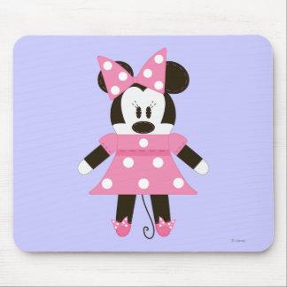 Pook-a-Looz Minnie   Pink Polka Dots Dress Mouse Pad