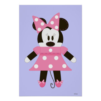 Pook-a-Looz Minnie | Pink Polka Dots Dress Poster