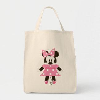 Pook-a-Looz Minnie   Pink Polka Dots Dress Tote Bag