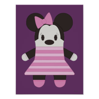 Pook-a-Looz Minnie | Pink Stripes Dress Poster