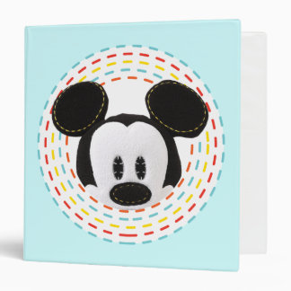 Pook-a-Looz Peeking Mickey Mouse 1 3 Ring Binder