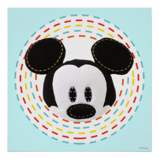 Pook-a-Looz Peeking Mickey Mouse 1 Poster