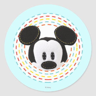 Pook-a-Looz Peeking Mickey Mouse 1 Round Stickers