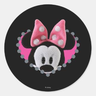 Pook-a-Looz Peeking Minnie Mouse Classic Round Sticker