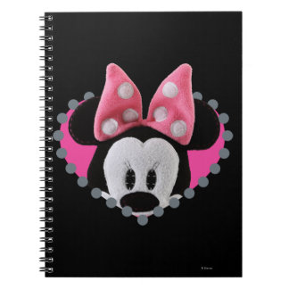 Pook-a-Looz Peeking Minnie Mouse Spiral Notebook