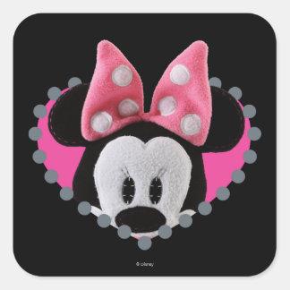 Pook-a-Looz Peeking Minnie Mouse Square Sticker