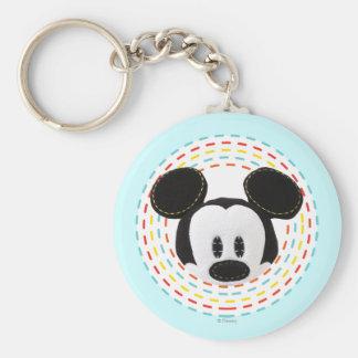 Pook-a-Looz que mira a escondidas Mickey Mouse 1 Llavero Redondo Tipo Pin