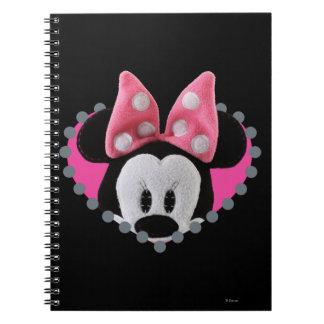 Pook-a-Looz que mira a escondidas Minnie Mouse Libros De Apuntes