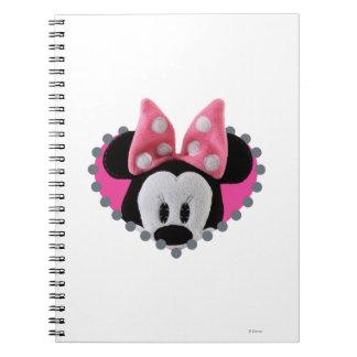 Pook-a-Looz que mira a escondidas Minnie Mouse Cuaderno