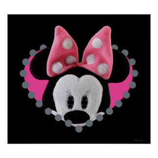 Pook-a-Looz que mira a escondidas Minnie Mouse Poster
