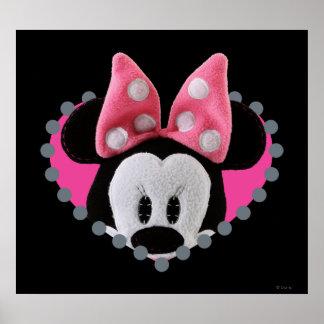 Pook-a-Looz que mira a escondidas Minnie Mouse Póster