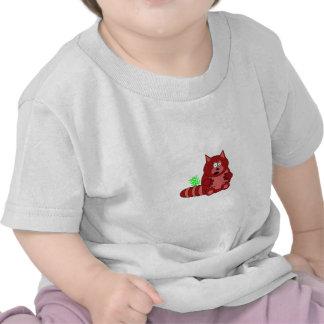 Pook la camiseta de los bebés de la panda roja