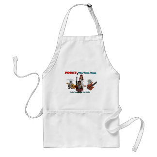 pooky and the tune bugs-1-1 adult apron