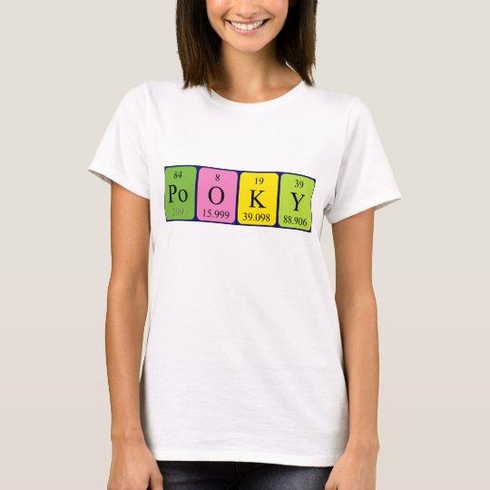 Pooky periodic table name shirt