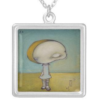 pooky square pendant necklace