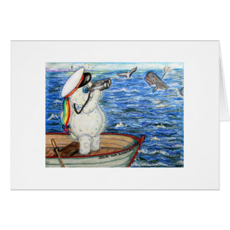 POOKY WHALE WATCHING STATIONERY NOTE CARD