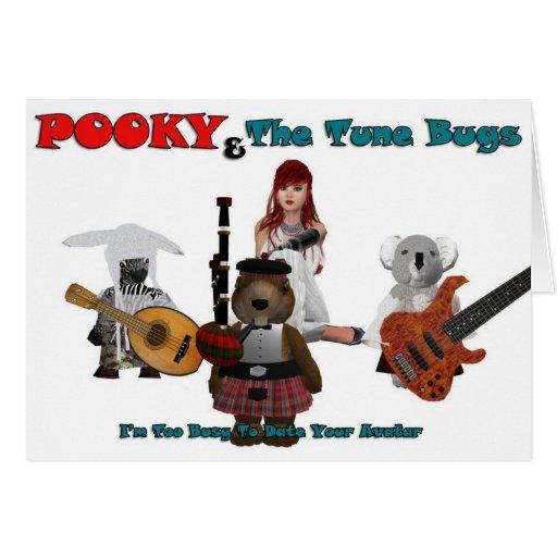 pooky y el tono bugs-1-1 tarjeta
