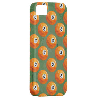 Pool 5 Ball Painted Pattern iPhone SE/5/5s Case