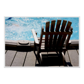 Pool and Deck Chair Poster