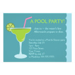 Pool and Dinner Party Birthday Invite