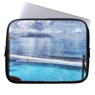 Pool and ocean laptop sleeves