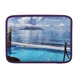 Pool and ocean MacBook air sleeve