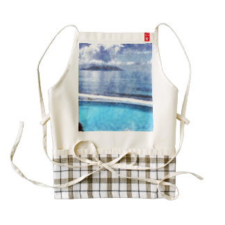 Pool and ocean zazzle HEART apron