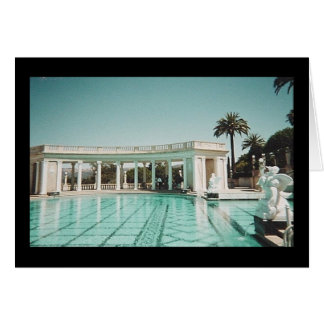 pool at Hearst Castle Greeting Cards