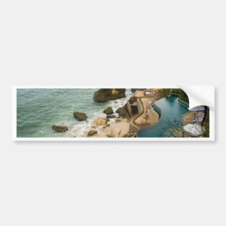 Pool at the edge of the sea in a tropical resort car bumper sticker