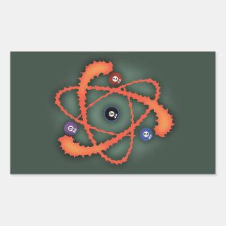 Pool Atom II Rectangular Sticker