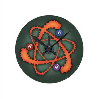 Pool Atom II Round Clock