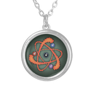 Pool Atom II Silver Plated Necklace