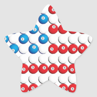 Pool Ball American Flag Star Sticker