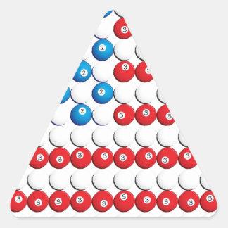 Pool Ball American Flag Triangle Sticker