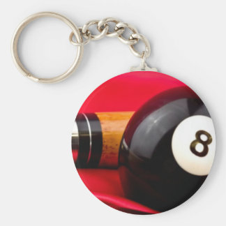 Pool Ball and cue Keychain