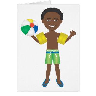 Pool Ball Boy Greeting Card