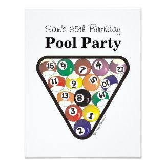 Pool Ball Rack Custom Invites