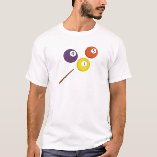 Pool Balls and Cue T-Shirt