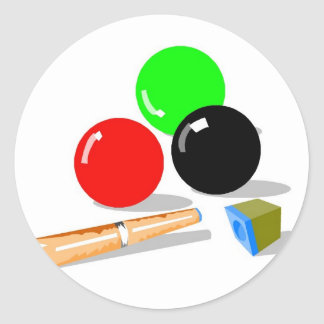 Pool Balls and Stick Classic Round Sticker